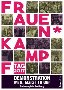 Plakat zum 8. März 2017 in Freiburg